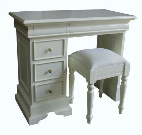 Sleigh Single Dressing Table or Desk with Stool